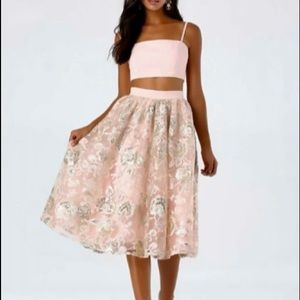 BEBE 🌸dress - NWT-two piece blush pink w sequins